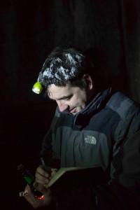 Jasja turft vleermuizen, diep onder de grond in een bunker in Polen.