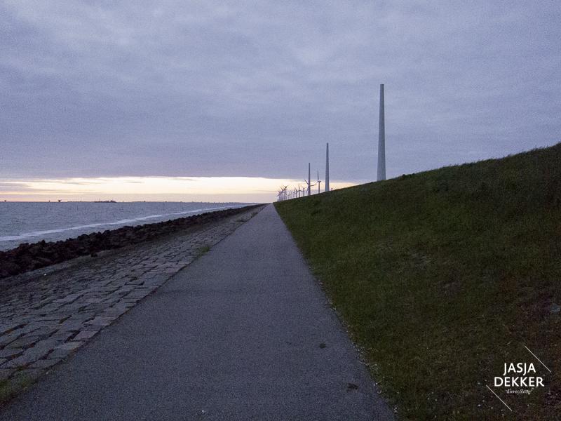 Middenin het toekomstige windpark.